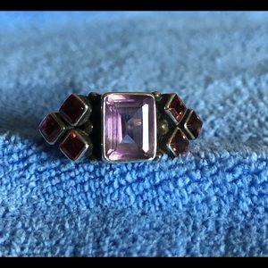 Nicky Butler Amethyst And Garnet Ring size 10.5